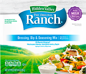 Hidden Valley Original Ranch Add Milk Mix Hidden Valley Kitchens Hidden Valley Kitchens